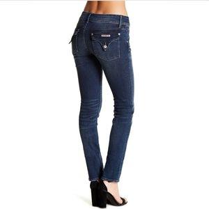 Hudson Collin Flap Dark Skinny Jeans Mid Rise Y2K